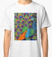 Colorful Paisley Peacock Bird Classic T-Shirt