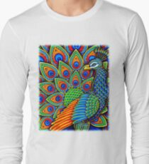 Colorful Paisley Peacock Bird T-Shirt
