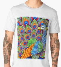 Colorful Paisley Peacock Bird Men's Premium T-Shirt