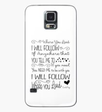 Where You Lead, I will Follow, Gilmore Girls Quote Case/Skin for Samsung Galaxy