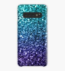 Beautiful Aqua blue Ombre glitter sparkles Case/Skin for Samsung Galaxy