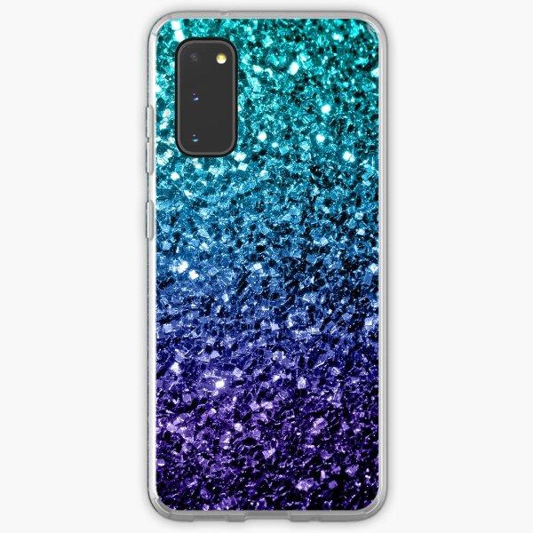 Beautiful Aqua blue Ombre glitter sparkles Samsung Galaxy Soft Case