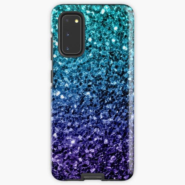 Beautiful Aqua blue Ombre glitter sparkles Samsung Galaxy Tough Case
