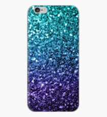 Beautiful Aqua blue Ombre glitter sparkles  iPhone Case