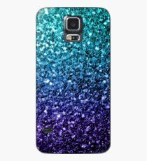Funda/vinilo para Samsung Galaxy Hermosa Aqua azul Ombre brilla destellos
