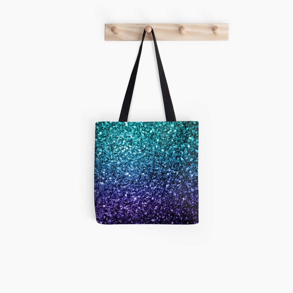 Wunderschönes Aqua Blue Ombre Glitter funkelt Tote Bag