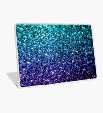 Beautiful Aqua blue Ombre glitter sparkles  Laptop Skin