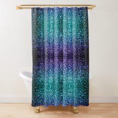 Beautiful Aqua blue Ombre glitter sparkles Shower Curtain