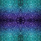 Beautiful Aqua blue Ombre glitter sparkles  by PLdesign