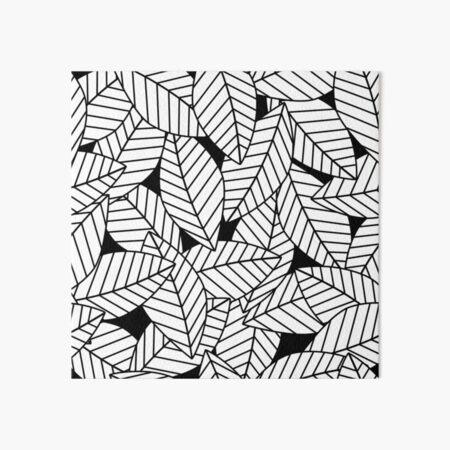 Leaves in Black Art Board Print