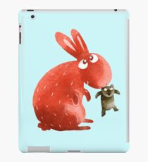 Red Rabbit Catches Bear iPad Case/Skin
