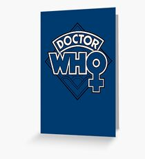 Classic Doctor Who Female Doctor Logo - 13th Doctor - Jodie Whittaker Greeting Card