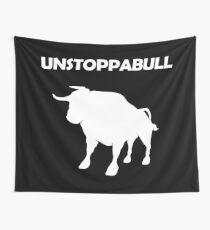 Unstoppabull (Unstoppable Bull) white version Wall Tapestry