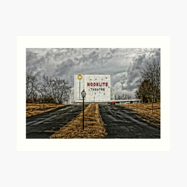 Moonlite Drive-In Art Print
