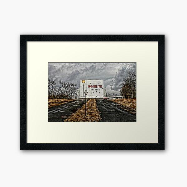Moonlite Drive-In Framed Art Print