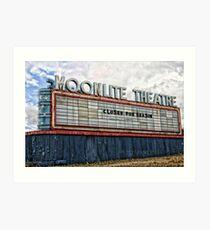 Moonlite Theatre Art Print