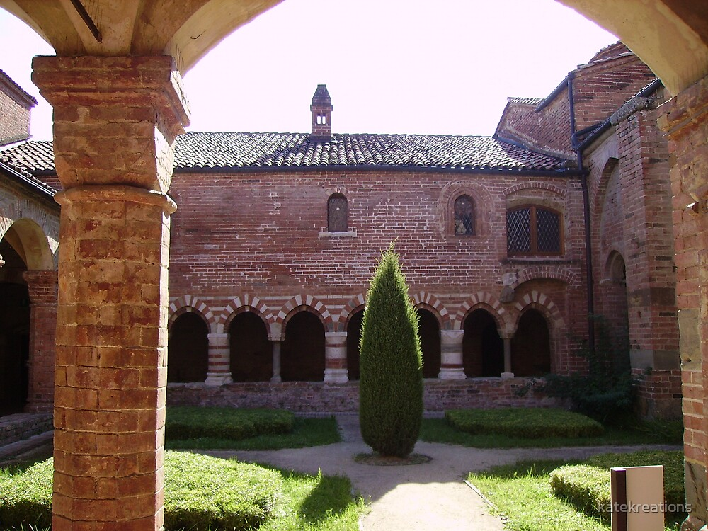 Gardens of Vezzolano Abbey in Albugnano northern Italy by katekreations