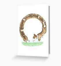Bull Terrier Loop the Loop Greeting Card