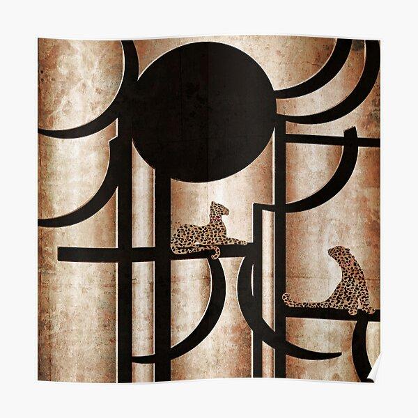 Art Deco Cheeta Print Poster