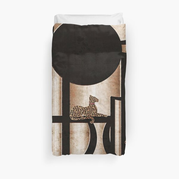 Art Deco Cheeta Print Duvet Cover