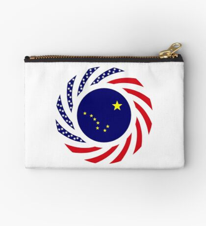 Alaskan Murican Patriot Flag Series Zipper Pouch
