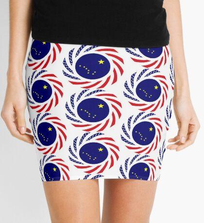Alaskan Murican Patriot Flag Series Mini Skirt