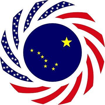 Alaskan Murican Patriot Flag Series by carbonfibreme