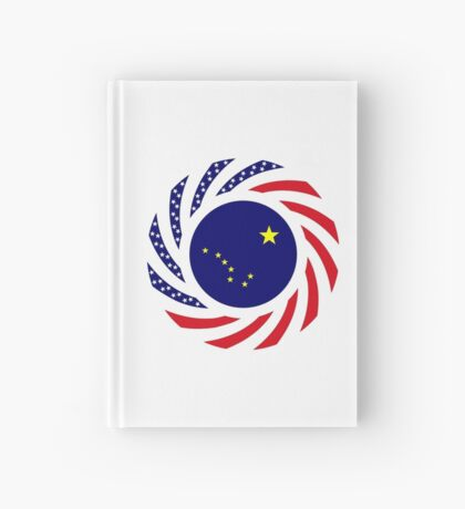 Alaskan Murican Patriot Flag Series Hardcover Journal