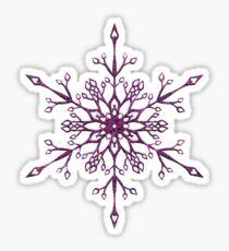 Purple Snowflake Sticker