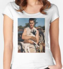 Tom Brady the GOAT Women's Fitted Scoop T-Shirt