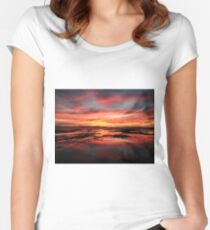 Alameda sunset Women's Fitted Scoop T-Shirt