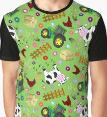 Farmyard Cow Graphic T-Shirt