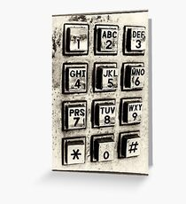 What's Your Number? Greeting Card