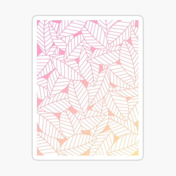Leaves in Sunset Sticker