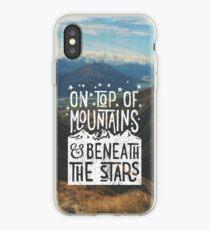 Vinilo o funda para iPhone En la cima de las montañas