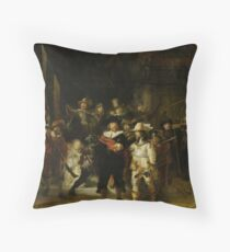 Rembrandt - The Night Watch Throw Pillow