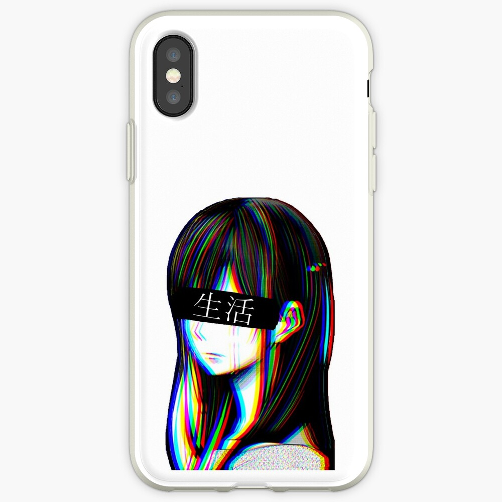 Ist das Art Sad Japanese Aesthetic (Japanische Version) iPhone-Hüllen & Cover