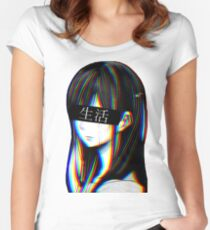 Is this Art Sad Japanese Aesthetic (JAPANESE VERSION) Women's Fitted Scoop T-Shirt