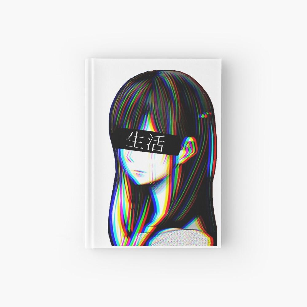Ist das Art Sad Japanese Aesthetic (Japanische Version) Notizbuch