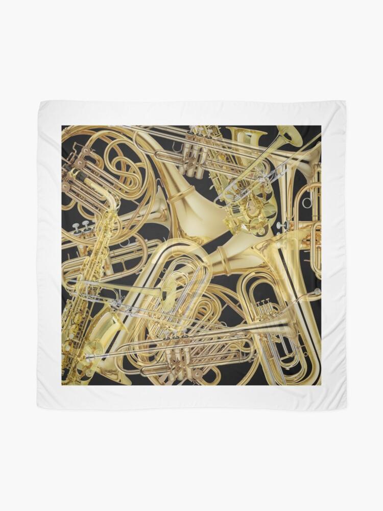 Alternate view of Brass Instruments Scarf