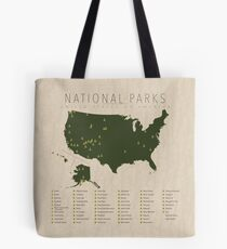 US National Parks Tote Bag