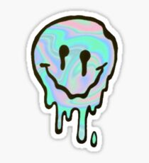 Holographic Melting Smiley Sticker
