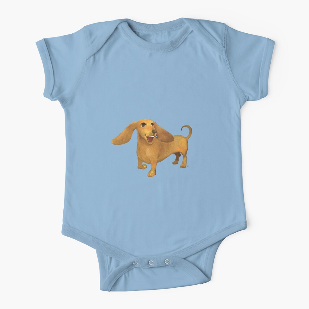 Jasper The Sled Dog Dachshund Baby One-Piece