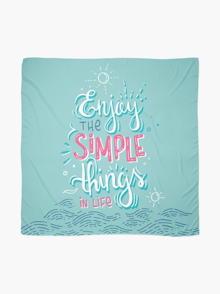 Alternate view of Enjoy the simple things in life - Colorful lettering Scarf