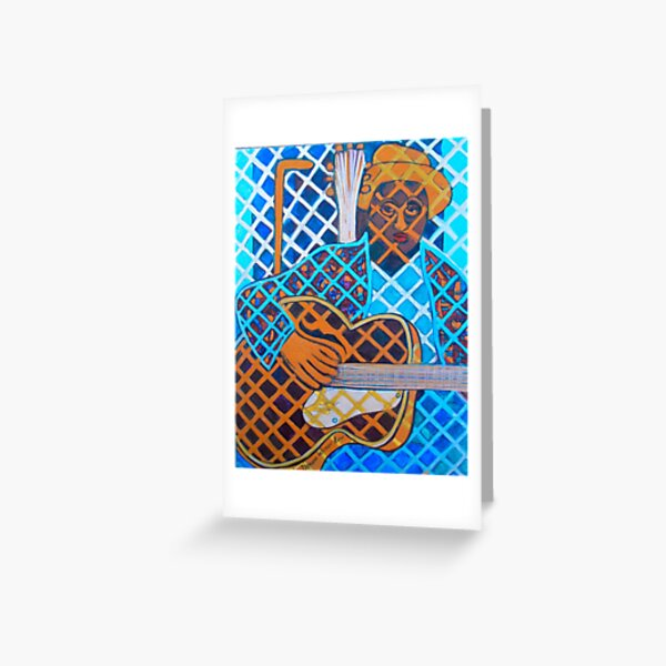 Blues Guitar: Nine Strings Greeting Card