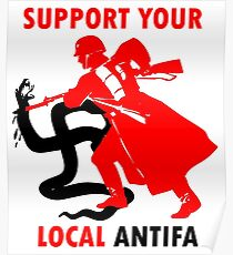 Support Your Local Antifa - Death to Nazi Beasts! - Anti-Fascist Action Poster