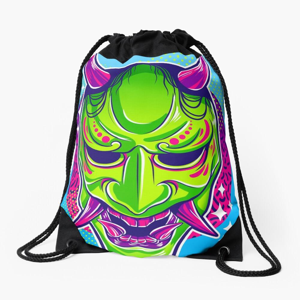 Neon Noh - Hannya Drawstring Bag