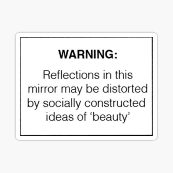 Warnung: Sozial konstruierte Schönheit Sticker