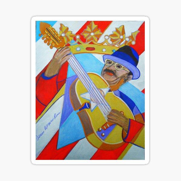Puerto Rican Cuatro: Ten Strings Sticker