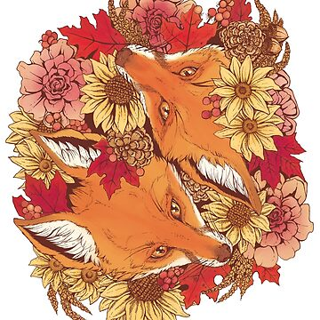 Autumn Fox Bloom by plaguedog